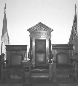 Masters chair from Rowland lodge